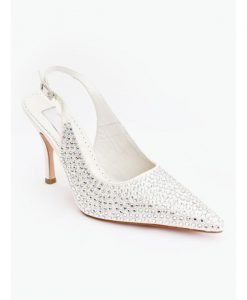 Crystal Couture Cinderella Crystal Pointed Slingback Heels