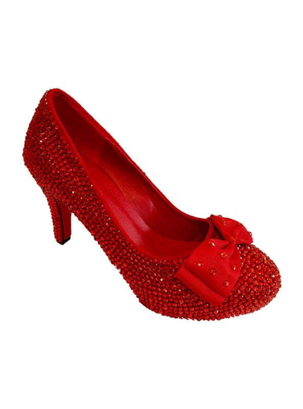 red diamante heels