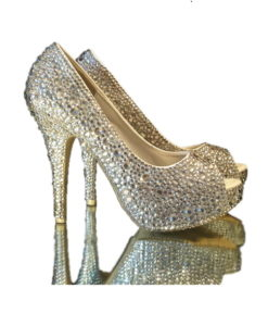 Crystal Couture Ladies Cystal Toe High Heel