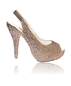 Crystal Couture Gold Sling Back