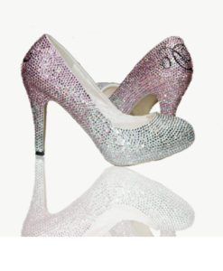 Crystal Couture I Do Crystal Platform Shoes