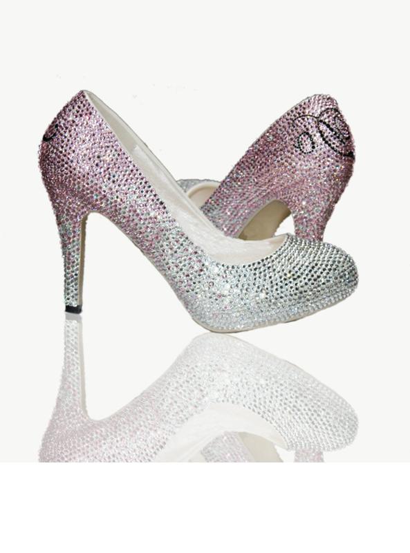 Crystal Platform Court Shoe High Heels