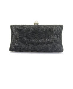 Crystal Couture Ladies Black Crystal Clutch Bag