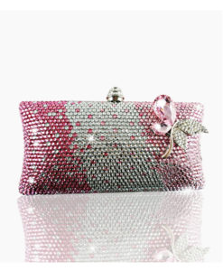 Crystal Couture Crystal Infusion Clutch Bag Pink & Silver 1
