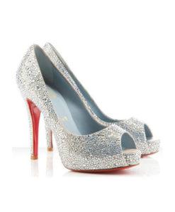 Crystal Couture Ladies Crystal Peep Toes 2