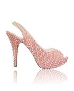 Crystal Couture Slingback Peep Toe High Heels 1