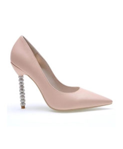Crystal Couture Leather Pointed Pastel Wedding Shoes With Crystal Heels 1
