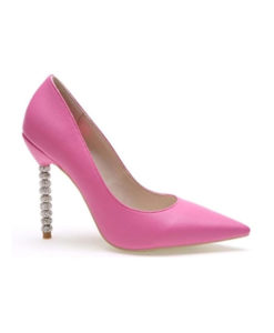 Crystal Couture Leather Pointed Pastel Wedding Shoes With Crystal Heels 2