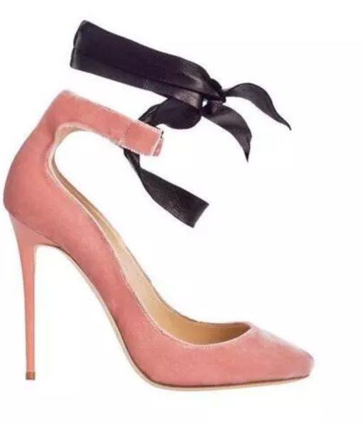 Crystal-Couture-Pink-Pointed-Velvet-shoe-with-ribbon-detail
