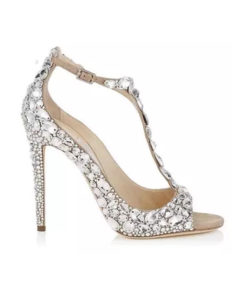Crystal Couture Crystal Embellished T Strap Wedding Shoes 2