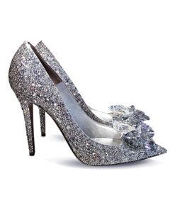 Crystal Couture Bridal Shoes Silver