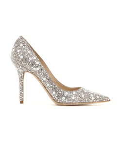 Crystal Couture Ladies Pointed Court Shoe 2