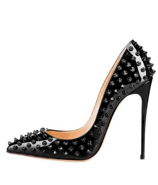 Crystal-Couture-Black-Stud-High Heels