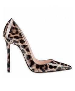 Crystal Couture Leopard Ladies Stilettos High Heels