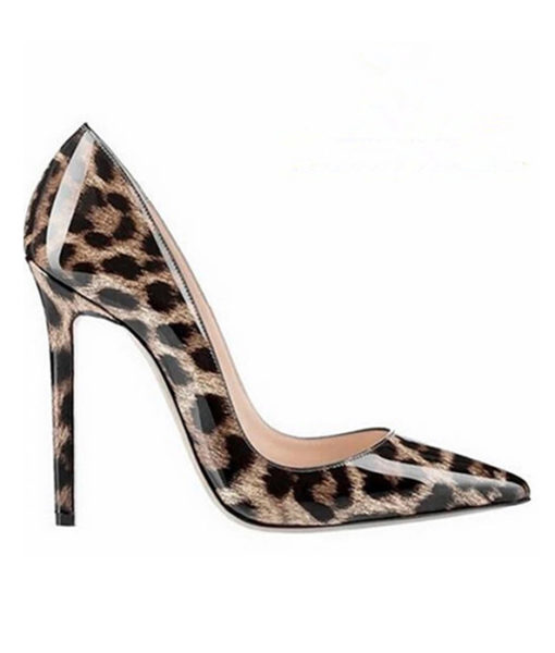 Crystal Couture Leopard Ladies Stilettos High Heels