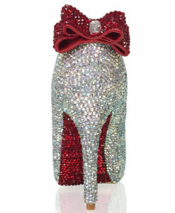 Crystal Couture Prom Set Crystal Peep Toes With Bow Detail & Crystal Clutch 1