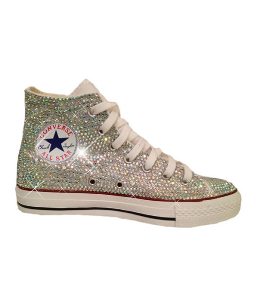 Crystal Couture Converse High-Tops Trainers