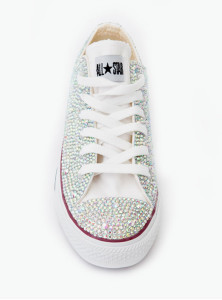 Crystal Couture Converse Low-Tops Trainers