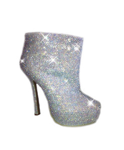 Crystal Couture Crystal Platform Boots