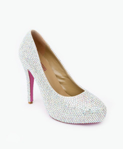 Crystal Couture Crystal Platform Court Shoe High Heels