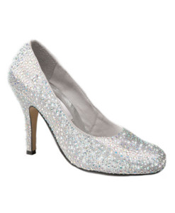 Crystal Couture Crystal Slipper Heels