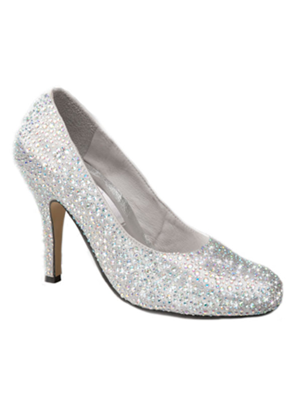 1b42910b2 Crystal Court Slipper Heels - Crystal Couture