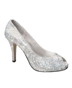 Crystal Couture Crystal Wedding Bridal Peep Toe Heels
