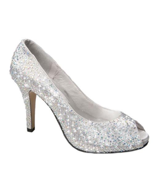 Crystal Couture Wedding Bridal Peep Toe Heels