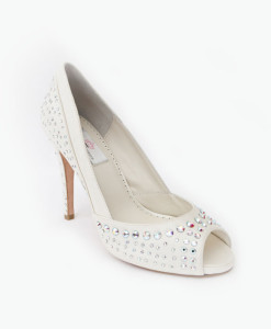 Crystal Couture Glitz and Glam Crystal Peep-toe Heels