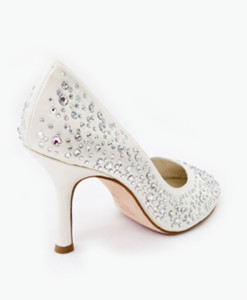 Crystal Couture High Society Crystal Cutaway Heels