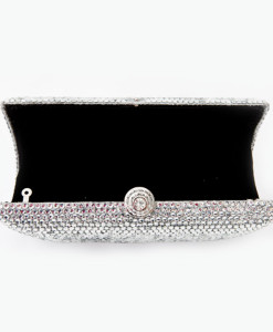 Crystal Couture Red Heart Crystal Clutch Bag