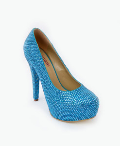 Crystal Couture Something Blue Wave Crystal Platform Heels