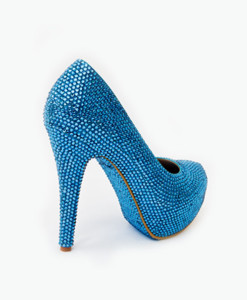 Crystal Couture Something Blue Wave Crystal Platform Heels